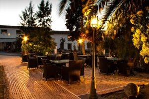 Terraza de un hotel con Spa en Toledo